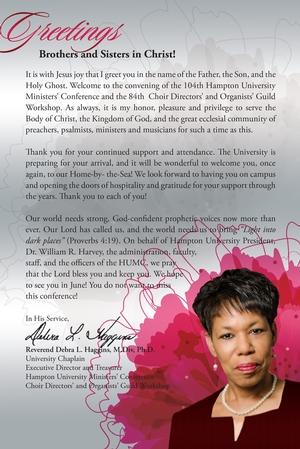 Reverend Haggins Letter