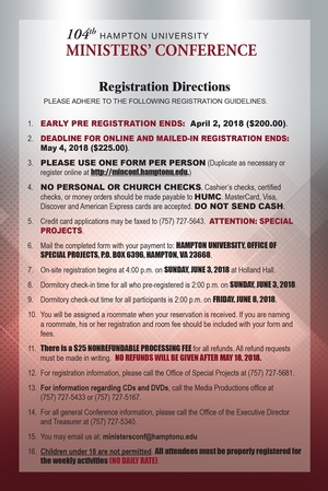 2018 On-site Registration Instructons